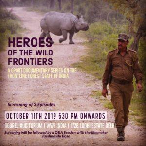 Forest Gaurd with Rhino