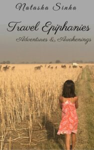 Book-Cover- Travel Epiphanies-Child walking in a dry field with Nilgais