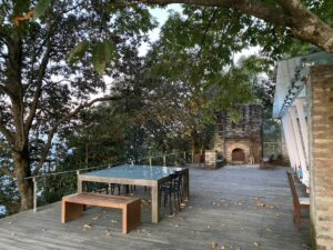 The deck-Tables and Oak