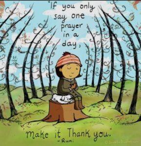 Gratitude- Rumi-Girl art