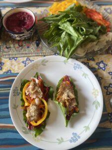 Spinach wraps- vegan