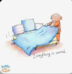 Tiny Buddha - Making bed