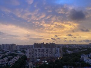 Sunset-ochre sky