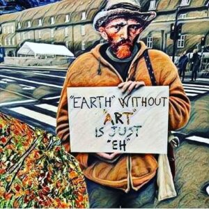 Van Gogh - Holding placard