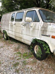 Van- Unused with weeds